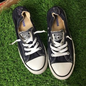 Converse Navy Slip On Shoes